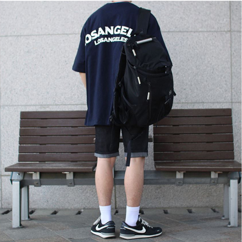 Over-fit LAST NAVY 1/2 Tee