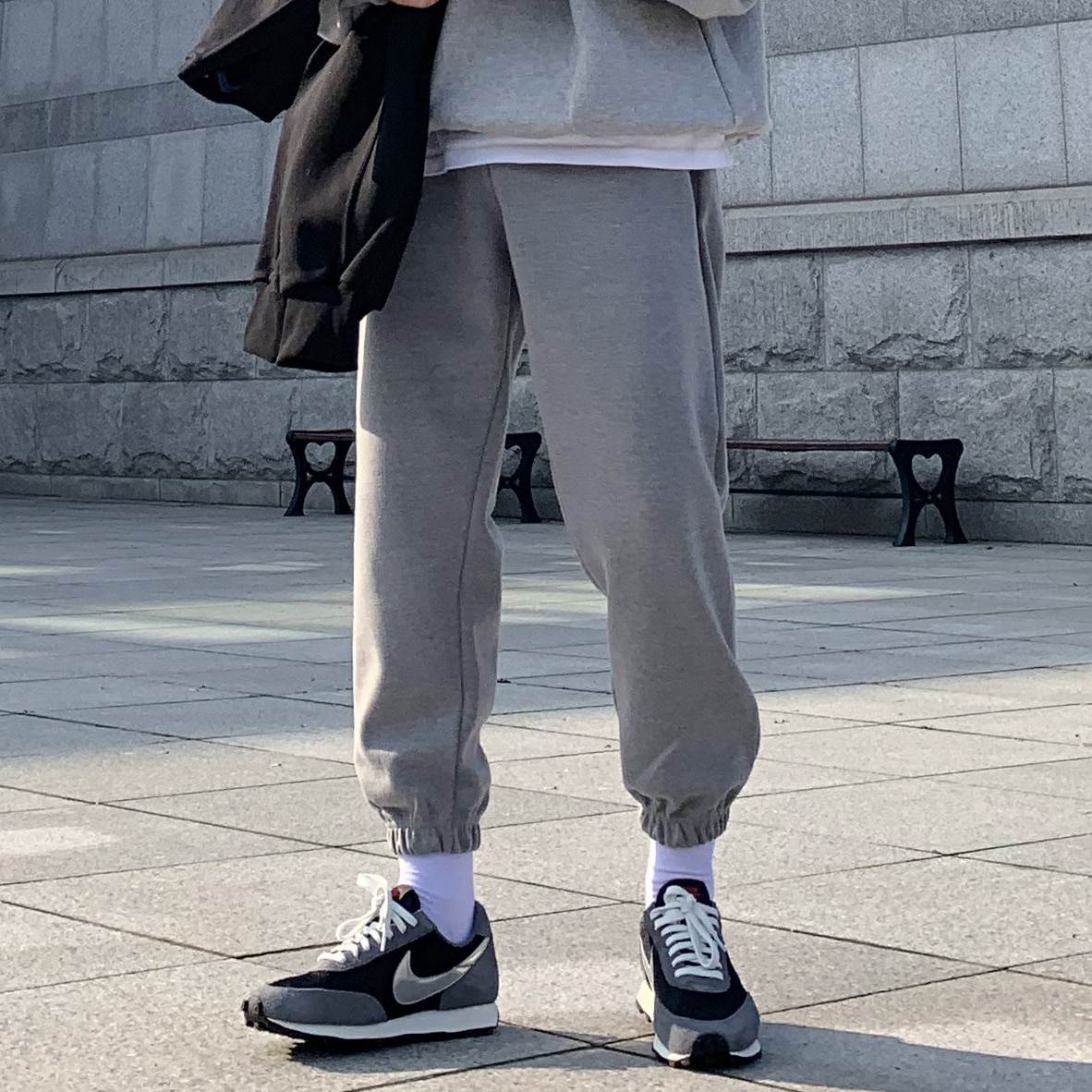 Drop-fit Saint Jogger Pants (GREY)