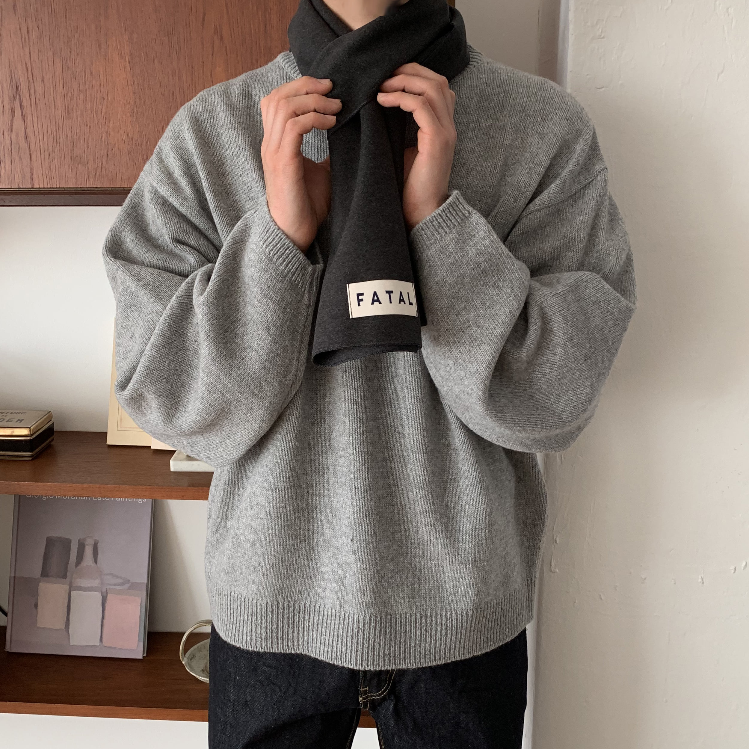 Over-fit Nirk Grey Knit