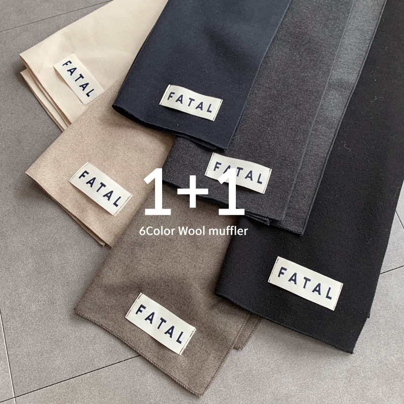 (2장가격) 1+1 6color Pate Wool muffler